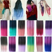 "24"" rainbow color hair extensions"