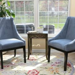 Modern Slipper Chair Hanging Balcony Set Of 2 Blue Arm Dining Sofa Accent Living Room Furniture | Ebay