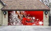 Christmas Garage Door Covers 3D Banners Outside House ...