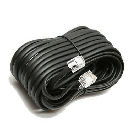 telephone handset wiring diagram d16z6 harness phone cord general data 100 ft extension black cable wire connector