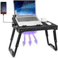 Foldable Laptop Table Tray Desk W/Cooling Fan Tablet Desk ...