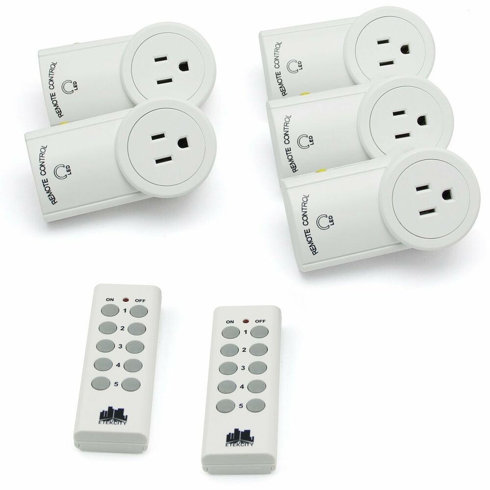 AutoProgrammable Wireless Remote Control Outlet Switch