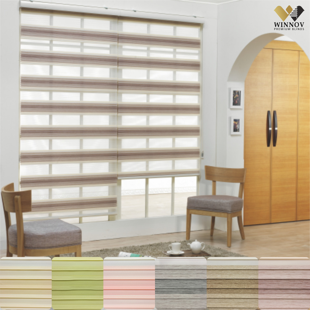 BC Double Roller blinds Zebra shade Home Window blind 100