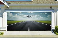 Plane Takes Off Decal for Garage Door 3D Banner Airplane ...