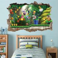 Super Mario Bros Scene Smashed Wall Decal Removable Wall ...