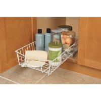 White Sliding Pull-Out Wire Under Cabinet Pantry Kitchen ...