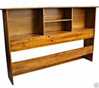 Solid Wood Bookcase Headboard Scandinavia Bedroom