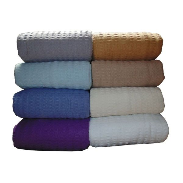 100 Cotton Blanket Size Twin Full Queen King White