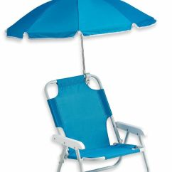 Kids Camp Chair With Umbrella Black Cotton Covers Blue Baby Beach & Outdoor Shade New Picnic Lawn Folding   Ebay