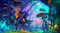 Psychedelic Trippy Art Silk Poster Home Decor Wall Sticker ...