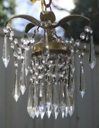 1 Pineapple lamp Hanging Swag Brass Chandelier crystal ...