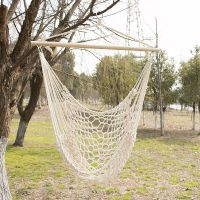Outdoor Hanging Swing Cotton Hammock Chair Solid Rope Yard ...