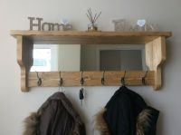*Beautiful quality handmade rustic wooden coat hook rack ...