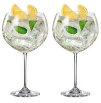 SET OF 2 BOHEMIA CRYSTAL GIN AND TONIC COCKTAIL GLASS ...