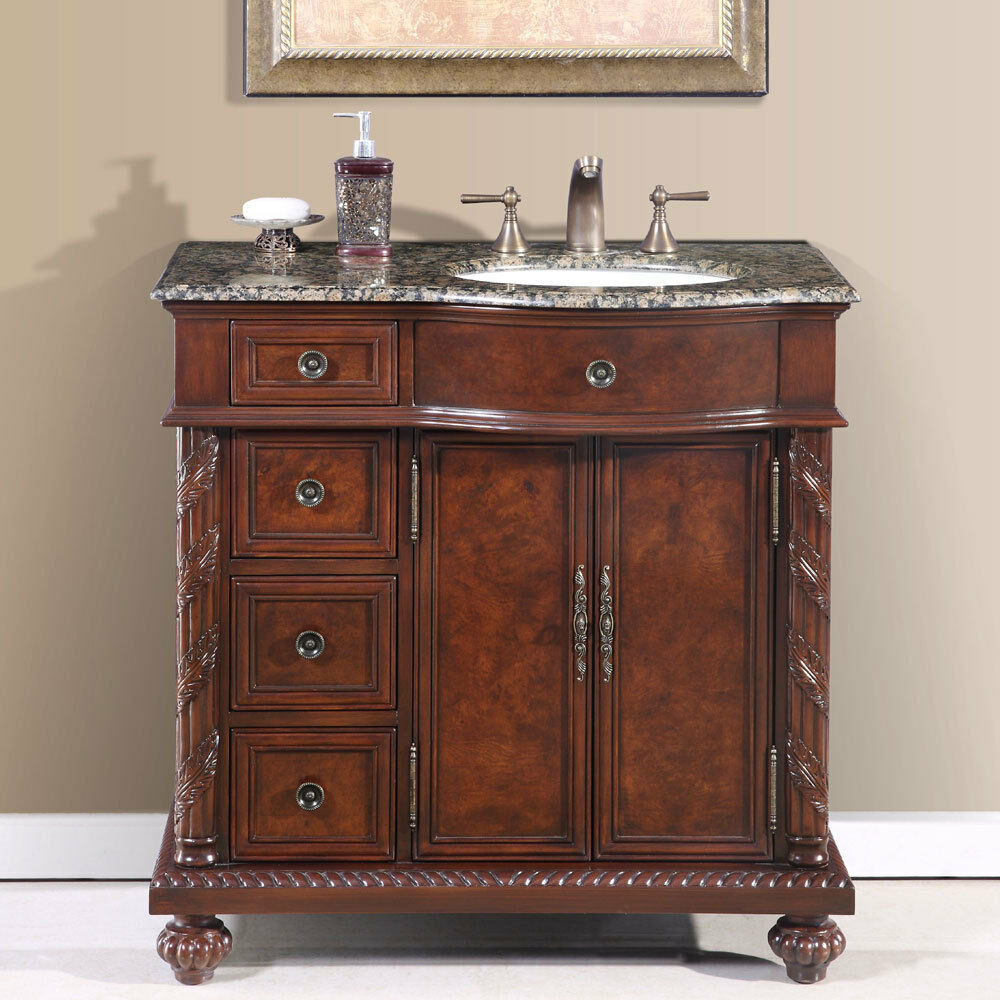 36inch Single Bathroom Vanity Off Center Right Sink Stone Top Cabinet 0213BB  eBay