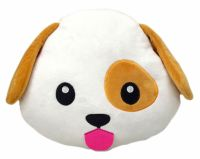 Dog Puppy Emoji Pillow Emoticon Cushion Soft Smiley 32cm ...