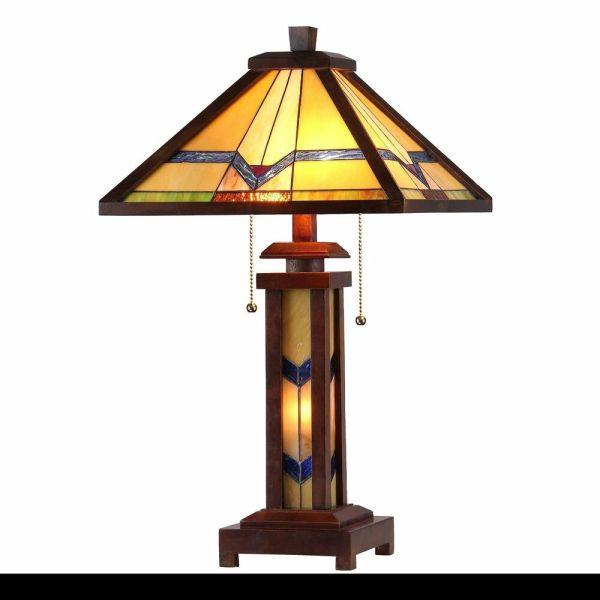 Mission Style Stained Glass Table Lamps