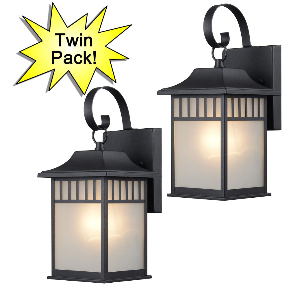 Textured Black Outdoor PatioPorch Exterior Light Fixtures