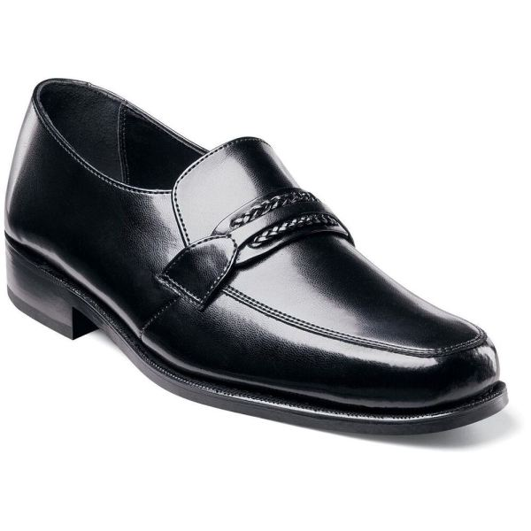 Florsheim Richfield Mens Black Leather Slip Comfort