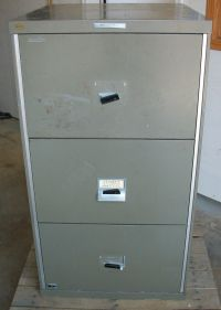 3 DRAWER REMINGTON RAND FIRE PROOF FILE CABINET FIREPROOF ...