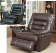 Big & Tall Brown Black Leather Massage Recliners Armchair ...