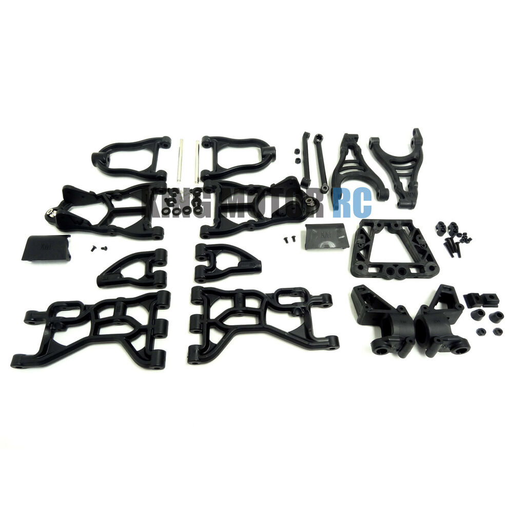 King Motor Upgraded Black Nylon Suspension Arms & Parts