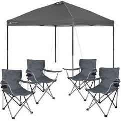 Outdoor Folding Chair With Canopy Floor Protectors For Chairs 10x10 Popup Tent Portable Shade Tailgate Shelter 4 Camping   Ebay