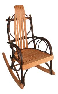 Rustic Hickory Oak Amish Children's Rocking Chair Kids ...