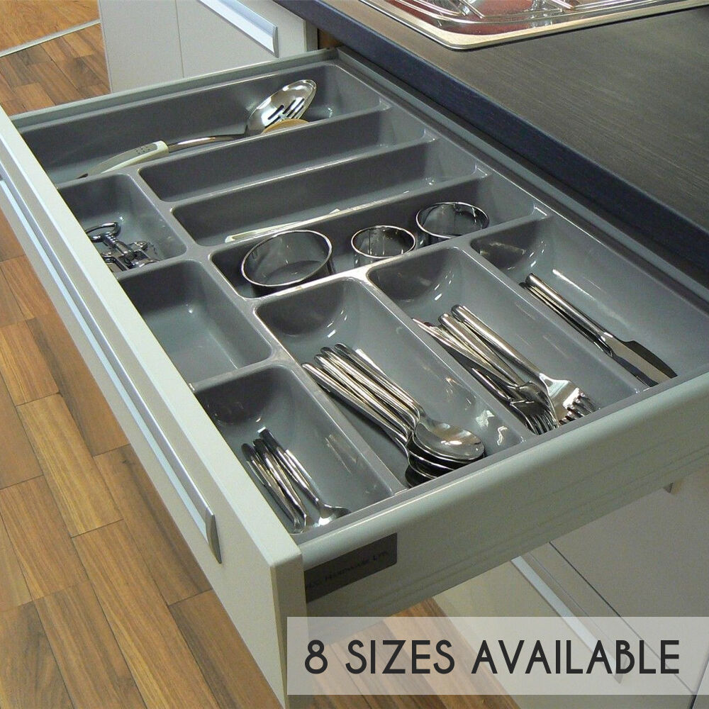 High Quality Plastic Cutlery Tray For Kitchen Drawers