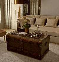 Coffee Table With Storage Wooden Treasure Chest Large ...