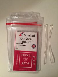 2 Heavy Duty Zip Lock Cruise Line Luggage Tag Holders ...