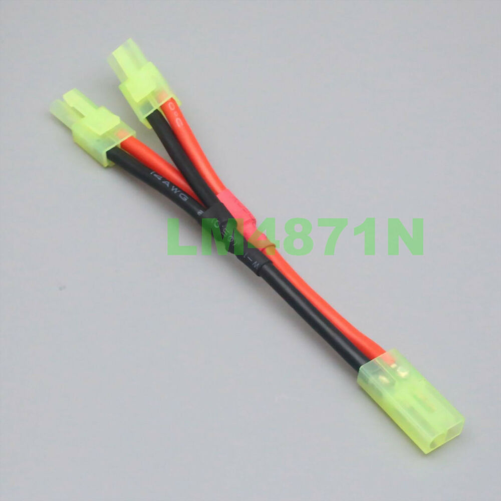 hight resolution of details about mini tamiya parallel dual battery y splitter connector 1f2m lead wire harness rc