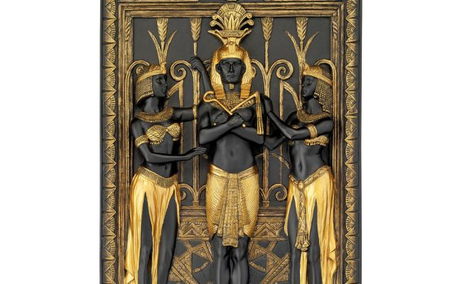 Ancient Egypt Egyptian Decor King Pharaoh Wall Sculpture