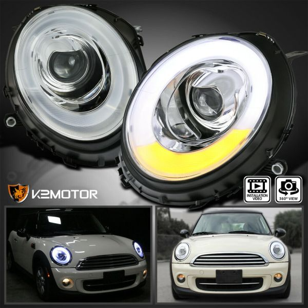 2007-2012 Mini Cooper Led Tube Bar Halo Ring Projector