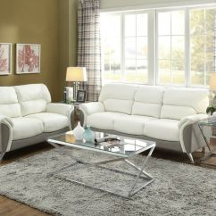 Bobkona Sofa Set Pu Leather Bed 5 Seater Modern 2 Piece Couch Loveseat Love Seat Living ...