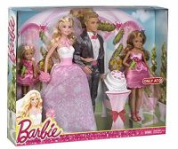 Barbie & Ken Fairytale Wedding Gift Set With Skipper