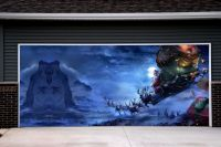 Christmas Garage Door Covers 3d Murals Banners Outside ...
