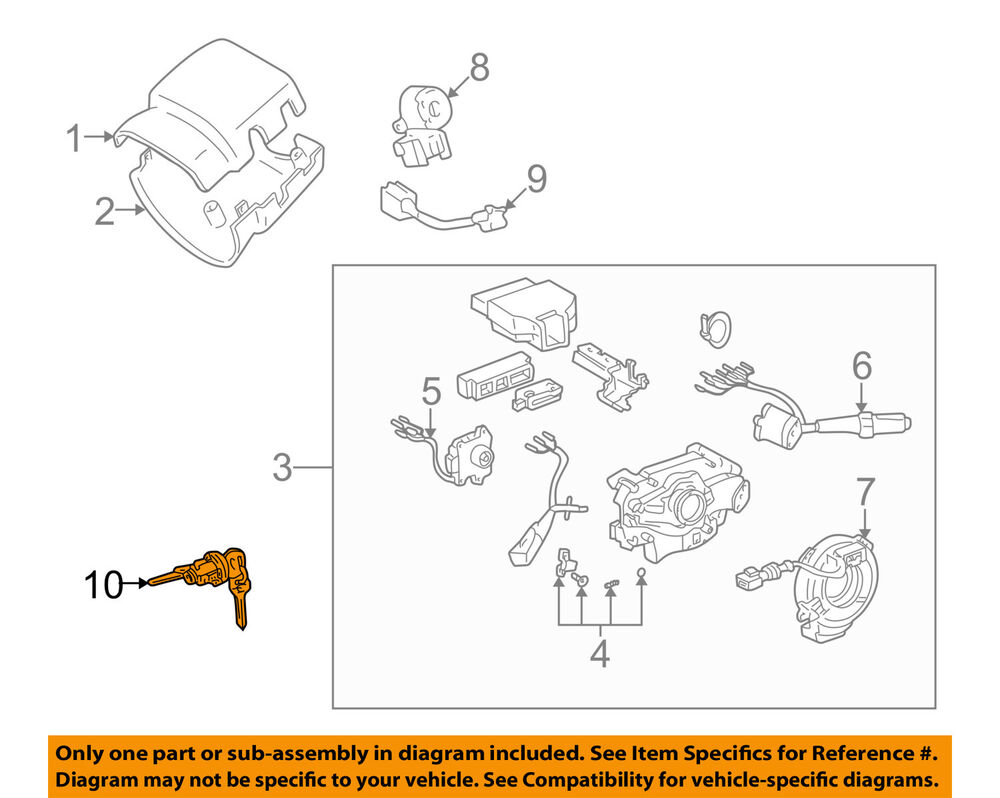 hight resolution of details about toyota oem 95 03 tacoma ignition lock cylinder 6905735070