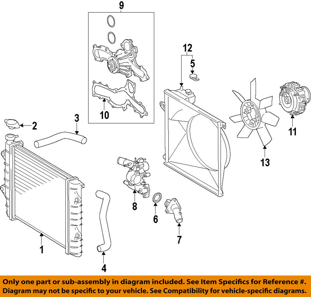 hight resolution of details about toyota oem 05 15 tacoma engine water pump 1610009471