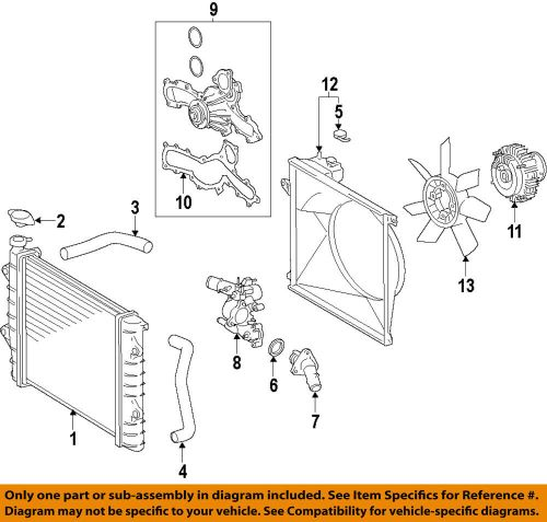 small resolution of details about toyota oem 05 15 tacoma engine water pump 1610009471