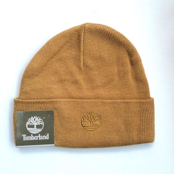 Timberland Knit Beanie Hat Color Honey Mustard