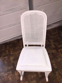 Vintage Shabby Chic Rocking Chair with a Cane Back 33 ...