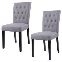 Set of 2 Fabric Dining Chair Armless Chair Home Kitchen ...