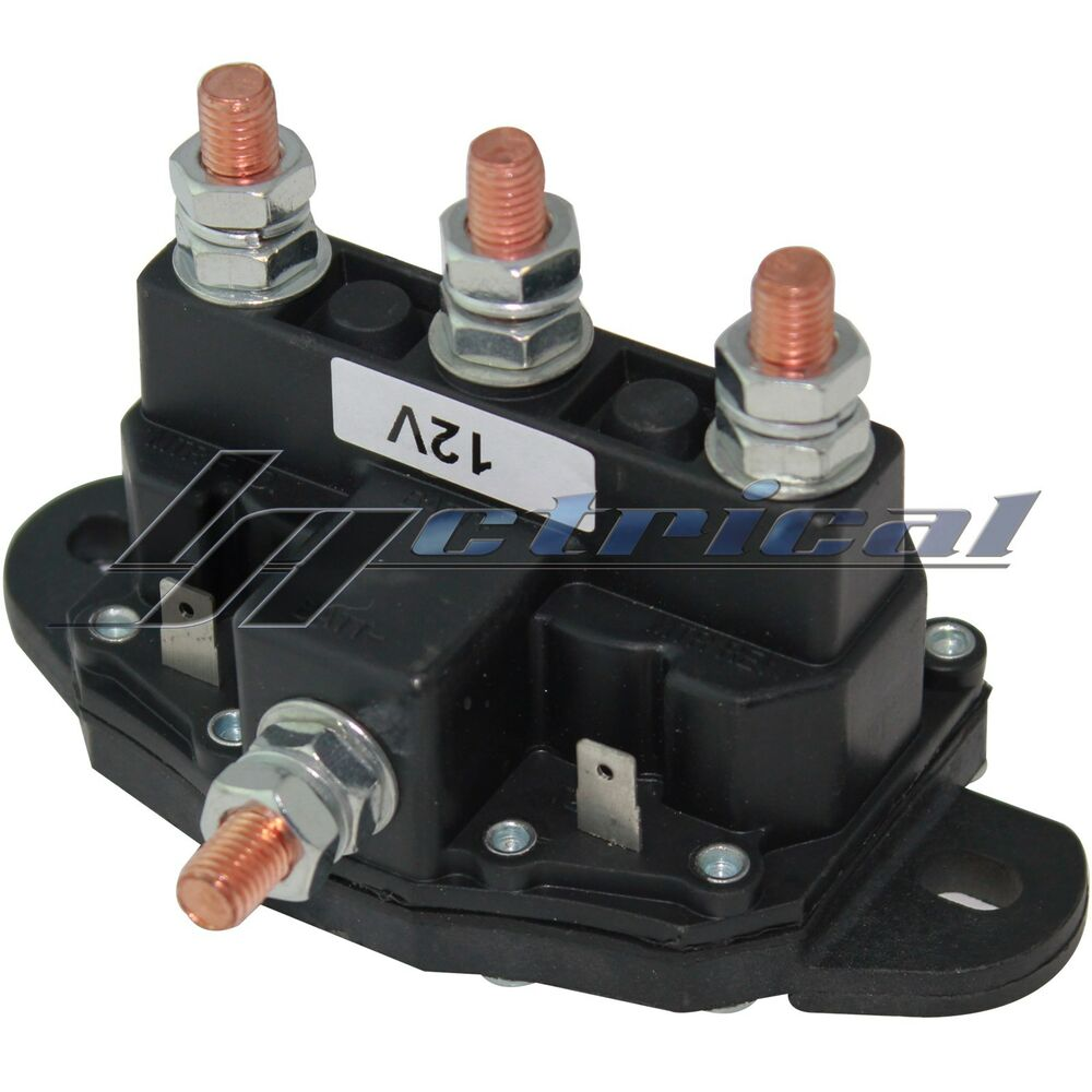 Atv Winch Motor Solenoid Reversing Polarity Relay Switch 6 Terminal Dc