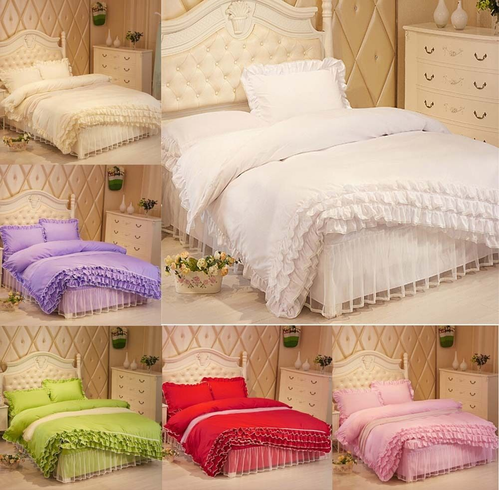 Lace Princess Duvet Cover Quilt Cover With Pillowcase