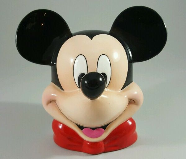 Vintage - Disney Hand Painted Mickey Mouse Head Ceramic