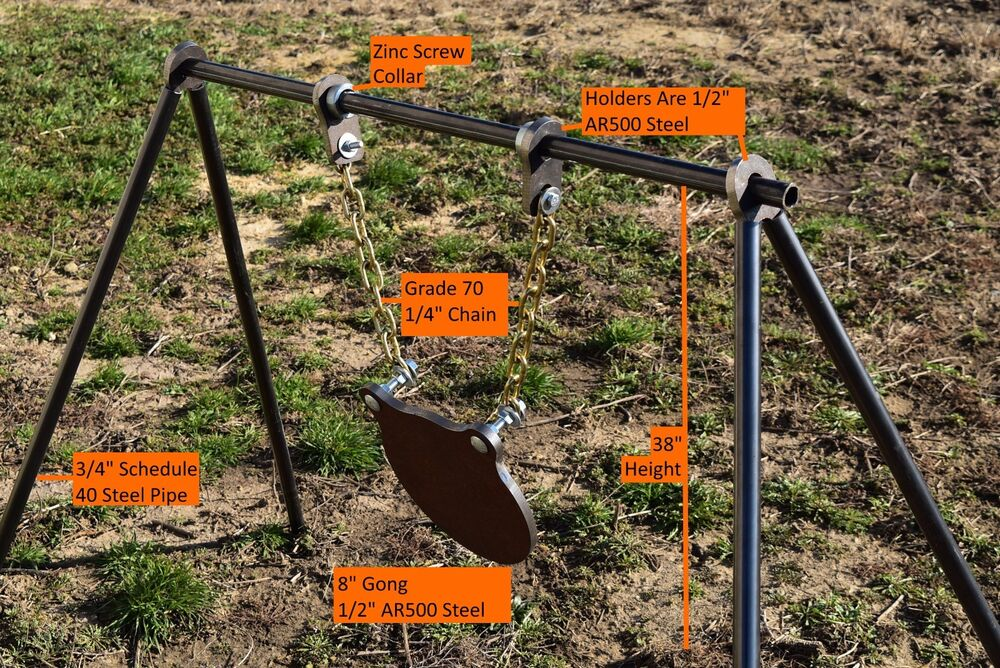 Steel Pipe Shooting Target Stand With 1 2quot Ar500 Pipe