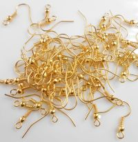 Wholesale Jewelry Making Findings 18K GOLD Plated Earring ...