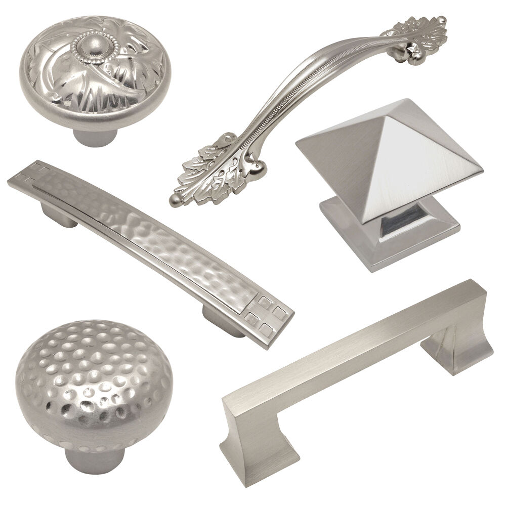 Cosmas Satin Nickel Cabinet Hardware Pulls Knobs and