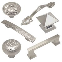 Cosmas Satin Nickel Cabinet Hardware Pulls, Knobs, and ...